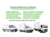 Urgent Cheap Man and Van Hire Essex House Removals Office Moving Van Piano Movers Clearance
