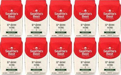 LOT Ten- 20 LBS Seattle's Best 6th Avenue Bistro Dark Roast Ground BB JAN