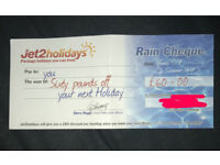 Jet2 holiday voucher £60
