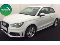 £239.14 PER MONTH WHITE 2013 AUDI A1 2.0 TDI S LINE 3 DOOR DIESEL MANUAL