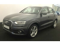 Grey AUDI Q3 4X4 1.4 1.6 1.8 2.0 TDI Diesel QUATTRO S LINE FROM £88 PER WEEK!