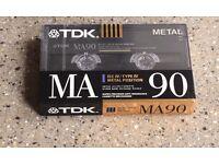 TDK MA90 Cassette Tape Brand New Sealed