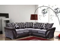 FAST DELIVERY-BRAND NEW SHANNON CORNER SOFA AND 3+2 SEATER SOFA IN 2 COLOURS-CASH ON DELIVERY