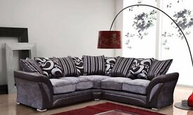 3 AND 2 SEATER SOFA IN BLACK AND GREY CORNER SOFA ALSO AVAILABLE