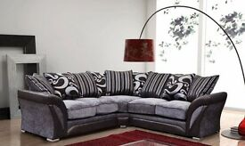 **100% GUARANTEED PRICE!**BRAND NEW-Shannon Premium Fabric Corner Sofa Suite-SAME/NEXT DAY DELIVERY!