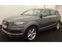 Grey AUDI Q7 3.0 TDI Diesel QUATTRO S LINE FROM £119 PER WEEK!