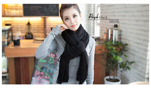 Tassels Scarf Female winter wool scarves knitted thick winter Women long shawl
