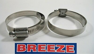 2 Breeze Hose Liner Clamps 9436 All Stainless Steel 1 1316 2 34 Silicone 70mm