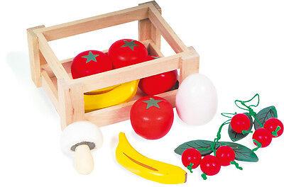Obstkiste 9 Teile aus Holz ca. 11x9x5cm für Kaufladen Küche NEU+OVP Legler 7122