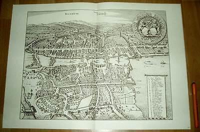 Zürich alte Ansicht Merian Druck Stich 1650 (schw)