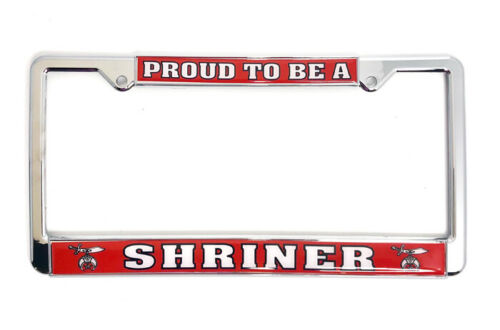 Proud to be a Shriner  License Plate Frame, LF