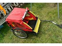 Spokey Joe kids 2 seater bike trailer