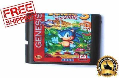 Game Sonic Hedgehog 3 Sega Genesis Cartridge 16bit Megadrive Cart without box