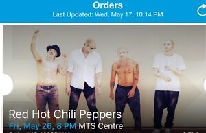 3 Red Hot Chili Peppers Tickets - MTS Centre