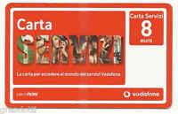 Vodafone Card Carta Servizi 8 Euro Scadenza 01 01 2012 - vodafone - ebay.it