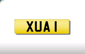 XUA 1 cherished number plate personalised private registration