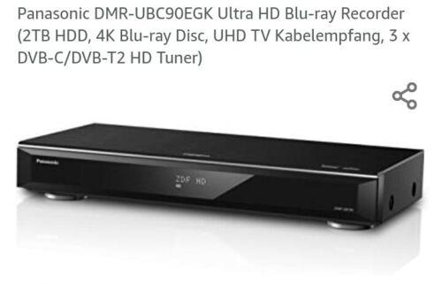BluRay-/Festplattenrecorder PANASONIC DMR-UBC90 / 4kUHD / 2 TB HDD / KABEL DVBT2