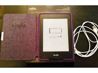 Amazon Kindle Paperwhite(5th Generation, B024 Series) 2GB, Wi-Fi, 6in - Black (With Purple Case)