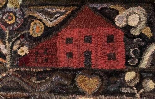RED HOUSE~ MY PRIMITIVE THINGS COLLECTION ~ LINEN RUG PATTERN