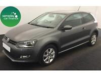 ONLY £167.79 PER MONTH GREY 2013 VW POLO 1.2 TDI MATCH 3 DR DIESEL MANUAL