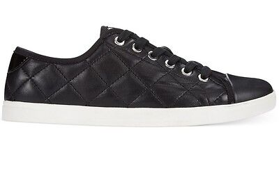 Donna Karan DKNY Women's Blair Fashion Demi Black Quilted Sneakers Shoes SIZE 6