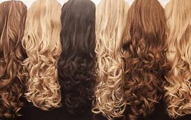 Stranded half head wigs, weave