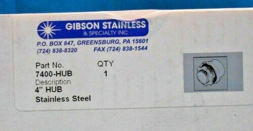 "GIBSON 7400-HUB 4"" HUB STAINLESS STEEL NEW IN BOX"