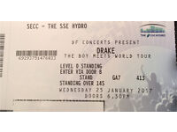 X8 Standing Drake Tour Tickets - 1st Glasgow Date - 25th Jan SSE