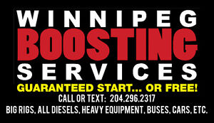 NEED A BOOST? LICENSED AND INSURED GUARANTEED START…. OR FREE!