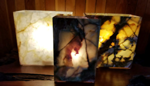 Natural Canadian Onyx Stone Lamps