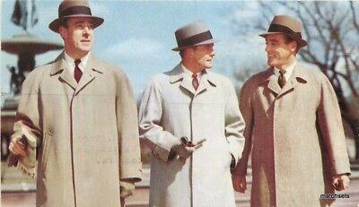 1950s Mens Hats | 50s Vintage Men's Hats 1950s Men's Fashion advertising Coats & Hats postcard 845 $5.39 AT vintagedancer.com