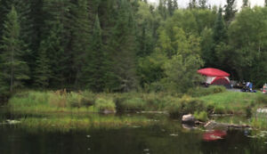 Private Creekside Camping near Kenora with Laclu Access