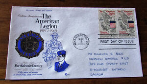 1969 American Legion 50th Anniversary 6 Cent First Day Cover Kitchener / Waterloo Kitchener Area image 2