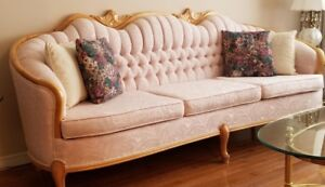 French Provincial Loveseat, Couch, Chair