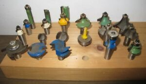 "Ensemble de Forets-Meches a toupie 1/2"" Shank Router Bit Set v01"