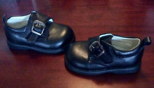 Infant Boys Tender Toes Black Shoes, Size 3T - St. Thomas