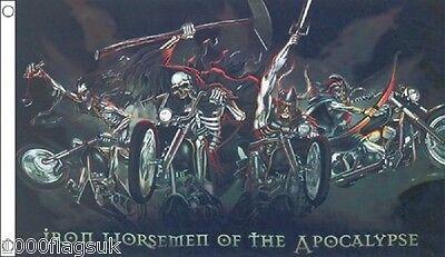 Iron Horsemen of the Apocalypse - Bikers of Death Dark Fantasy Flag 5'x3' Flag