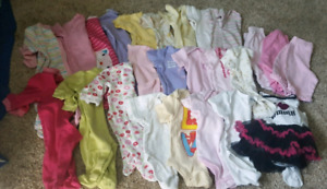 0 to 3 month girl clothing lot