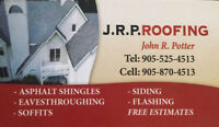 J.R.P Roofing! we also do emergency roof repairs & slate repairs