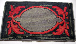 VINTAGE HOOKED RUG EXCELLENT CONDITION HAND MADE