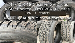 4 USED Toyo Obverse 245/ 60 R18 Winter tires