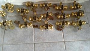 Doorknobs - brass (12 Passage, 2 bathroom, 1 keyed)