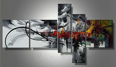 5P MODERN ABSTRACT HUGE WALL ART OIL PAINTING ON CANVAS No frame on Rummage