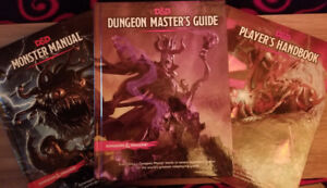 Dungeons & Dragons Fifth Edition Book Collection + Dice