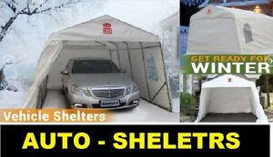 CAR (TEMPO) SHELTERS - CAR PORTS - WITNER STORAGE