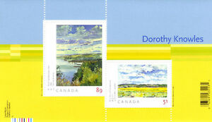 Canada Stamps - Art Canada Dorothy Knowles 51c & 89c Commemorati West Island Greater Montréal image 1