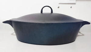 Vintage Ikea Cast Iron Oval Dutch Oven