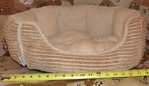 """Oval Dog bed for small < 16 pound - Medium Dog 13"""" x 17"""""""