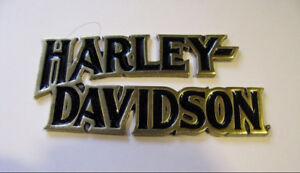 Harley Davidson Vintage Emblem Logo Medallion Metal *RARE*