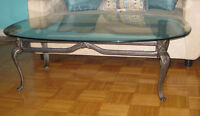 GLASS COFFEE TABLE + CONSOLE TABLE